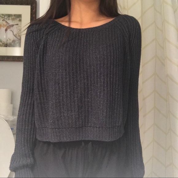 Brandy Melville Tops - BRANDY MELVILLE Navy Knit Sweater